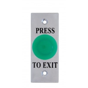 Mushroom Exit Button, Illuminated Green, Architrave