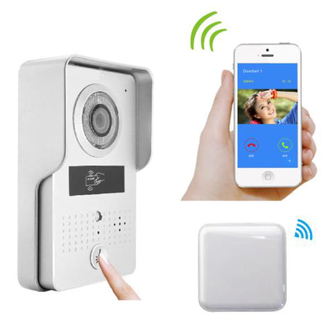 TruVue WIFI Video Door Phone– Silver,Card Reader,RF Chime