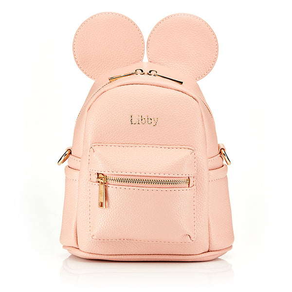 Personalised Children's Ears Backpack Bag - Nude * As seen on Khloe Kardashian & True