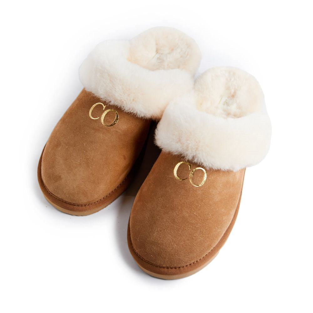 PRE ORDER Personalised Luxury Suede Slippers *dispatched from 30/11