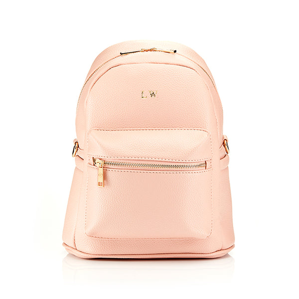 Personalised Pebble Backpack Bag - Nude