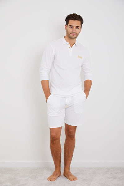 Personalised Mens Top & Short Set - White