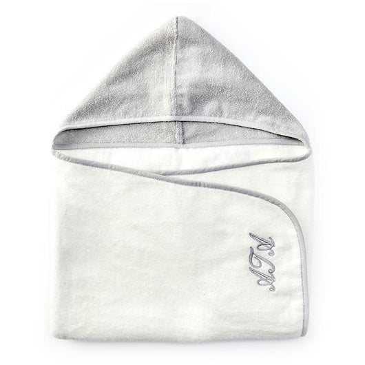 Personalised HA Mini Mori Toddler Towel- Grey/White