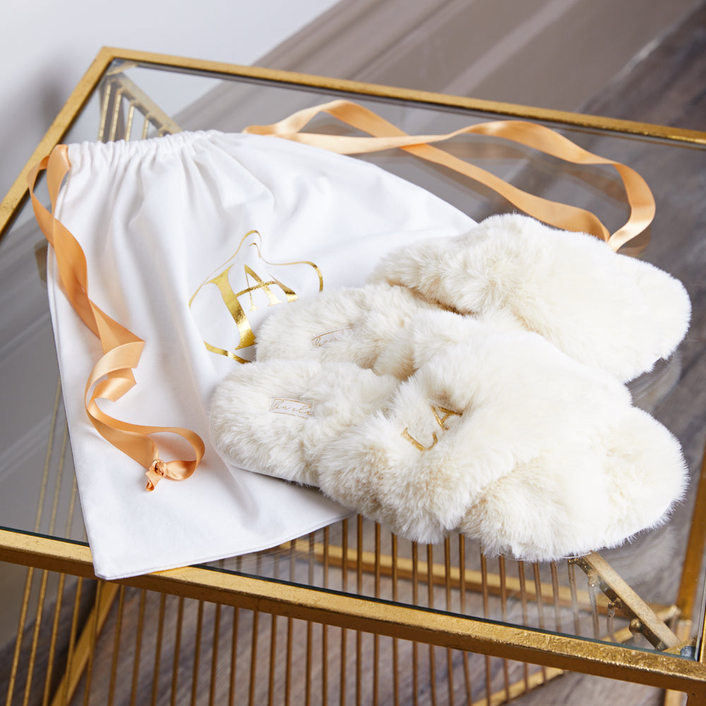 Luxury Fluffy Slippers - Ivory