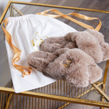 Luxury Fluffy Slippers - Taupe