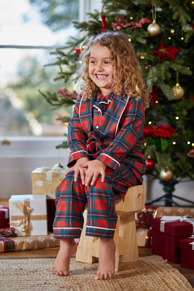Personalised Luxury Tartan Christmas HA Mini 3 Piece Pyjama Set