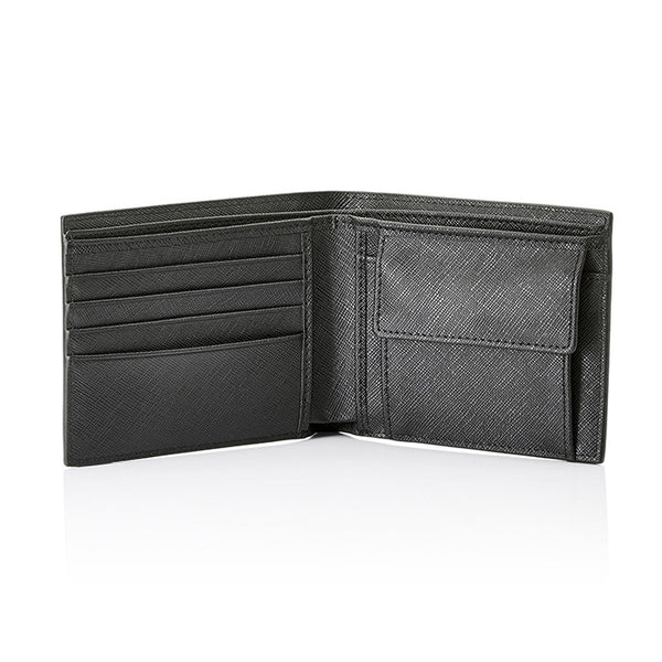 Personalised Saffiano Wallet - Black