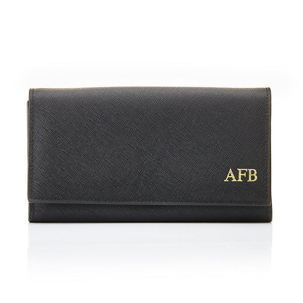 Personalised Saffiano Purse - Black