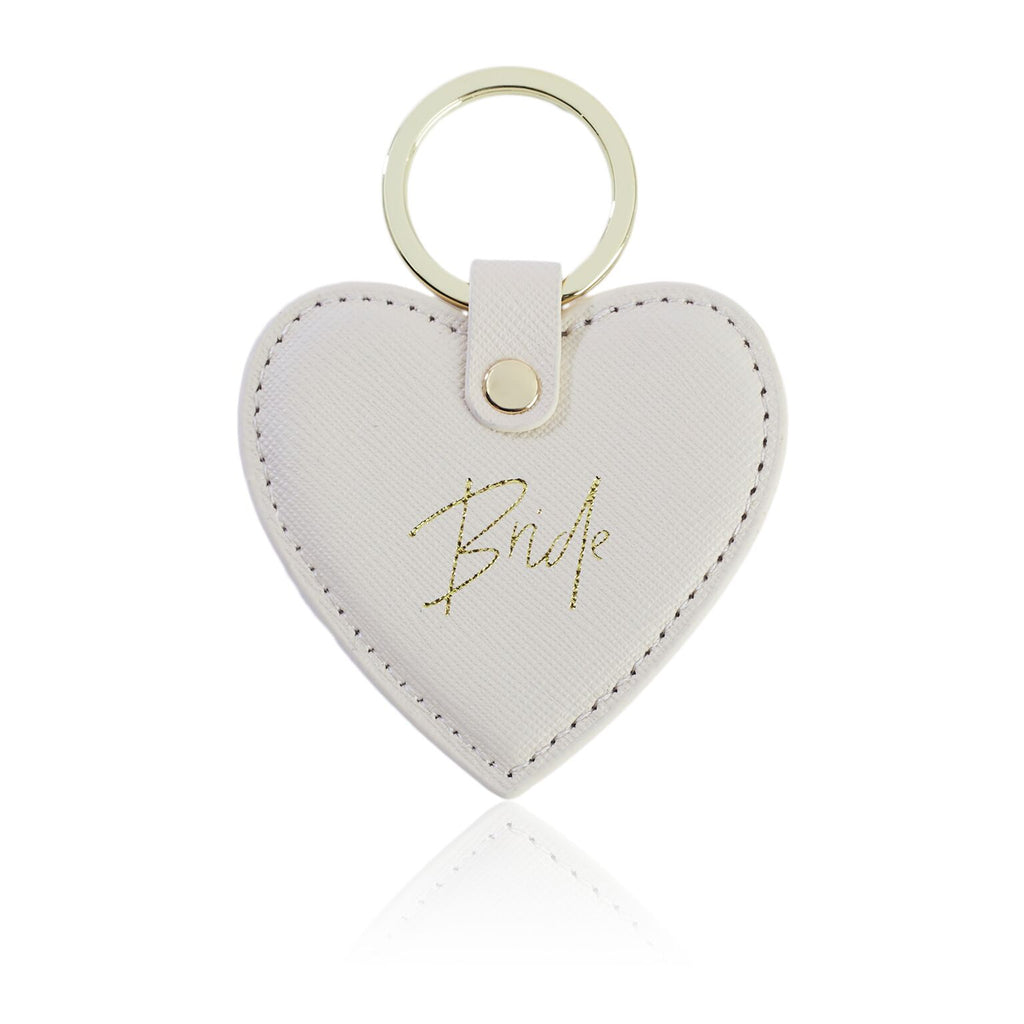 Bride Ivory Heart Key Ring