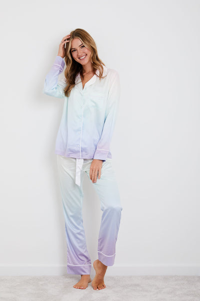 Personalised HA Sleep Satin Luxe Long Sleeve Pyjama Set - Rainbow