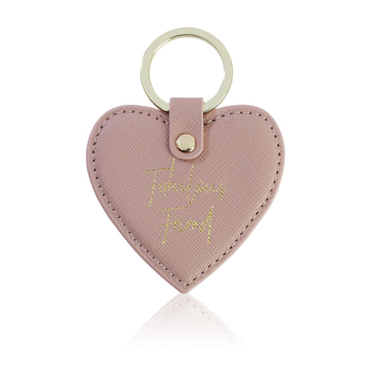 Fabulous Friend Nude Heart Key Ring