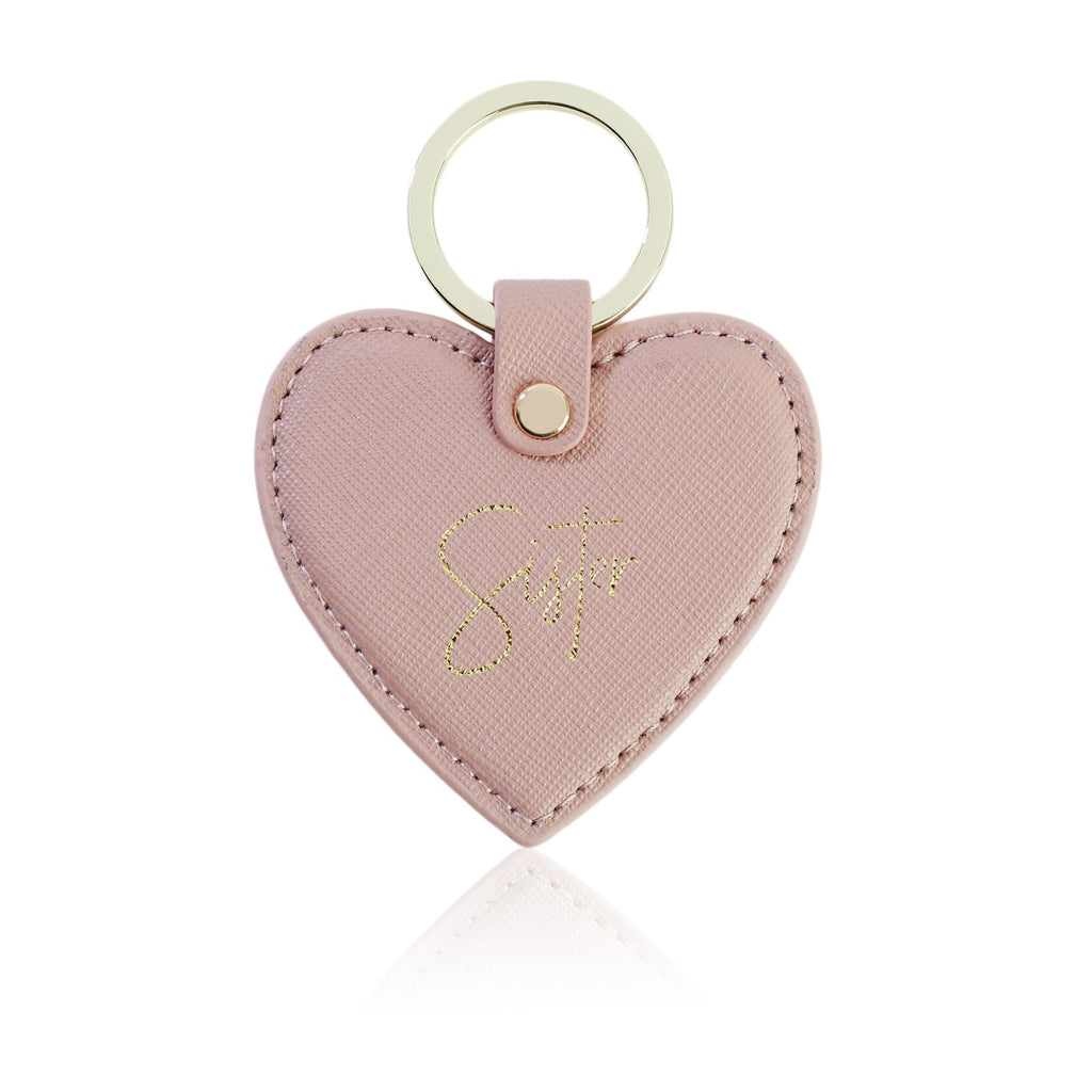Sister Nude Heart Key Ring