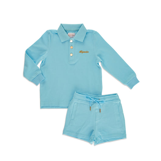 Personalised HA Mini Boys Short & Top Set - Blue