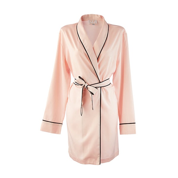 Mother Of The Bride HA Sleep Satin Dressing Gown Robe - Pink