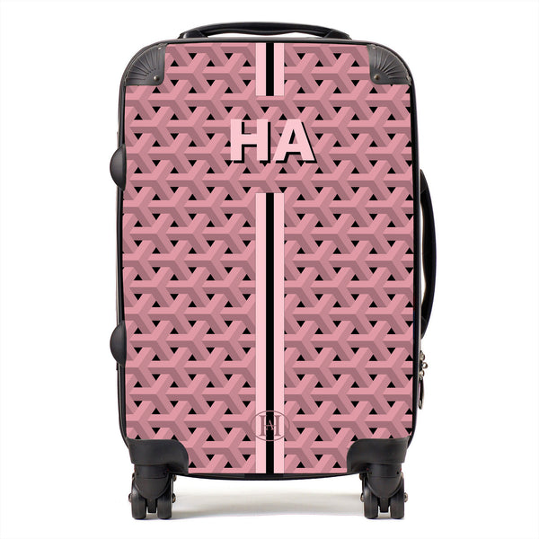 Personalised HA Designs Printed Suitcase - Pink