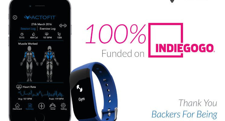 Did you know? Actofit is 100% funded on Indiegogo!