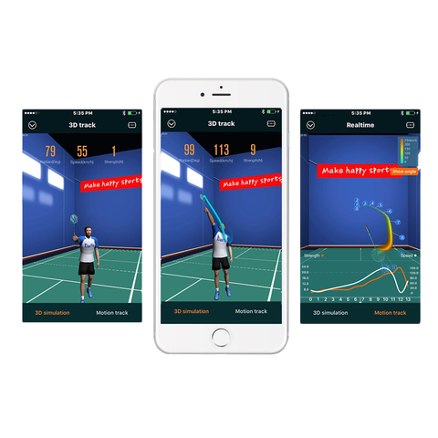 Actofit Badminton Tracker 3d motion!