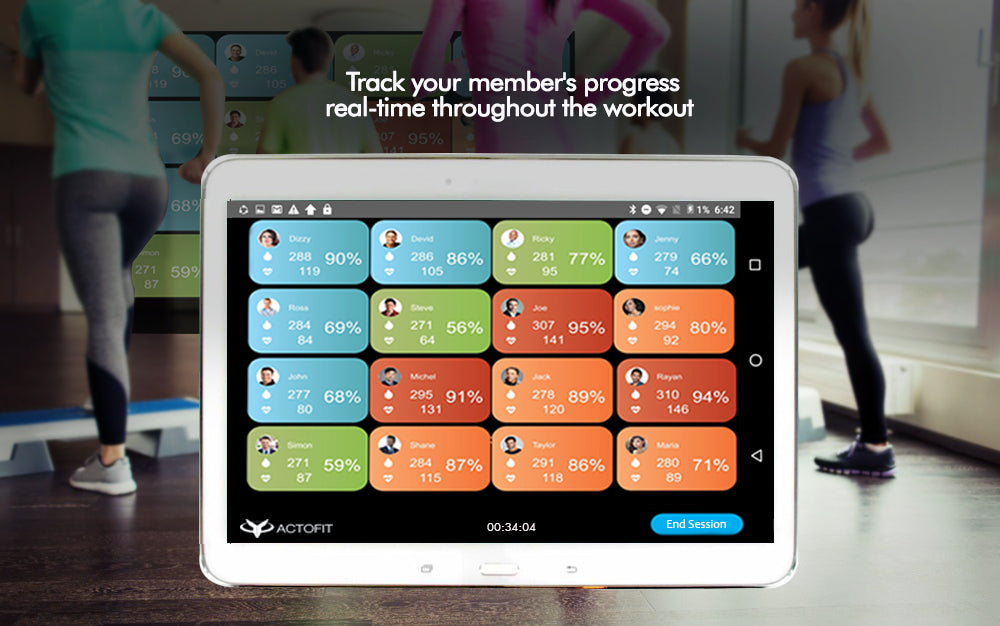 Group Training Engagement App for Heart Rate Monitoring