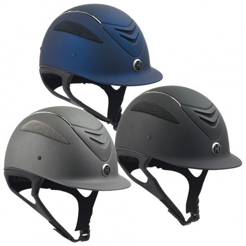 One K Defender Chrome Stripe Helmet