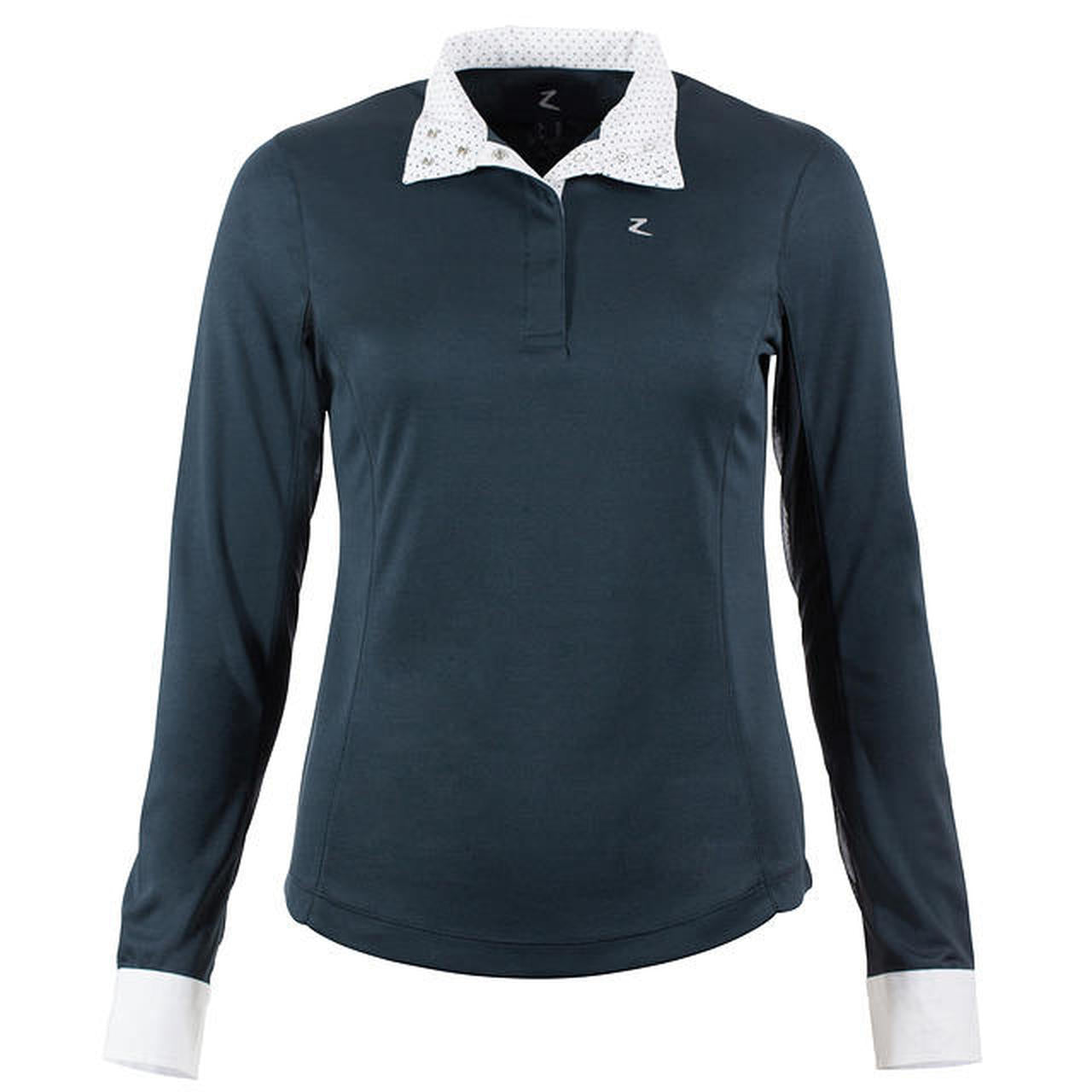 Photo of Horze Blaire Women's LS Show Shirt in Navy Blue