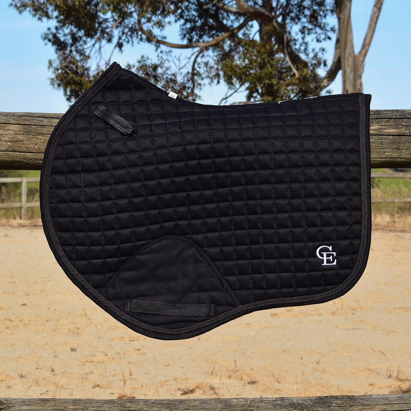 Photo of Caboose Equestrian Classic Close Contact Jump Pad in Onyx