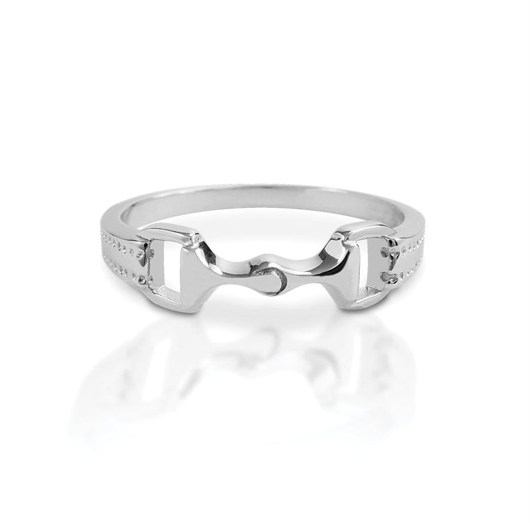 Kelly Herd Sterling Silver 6mm Bit Ring