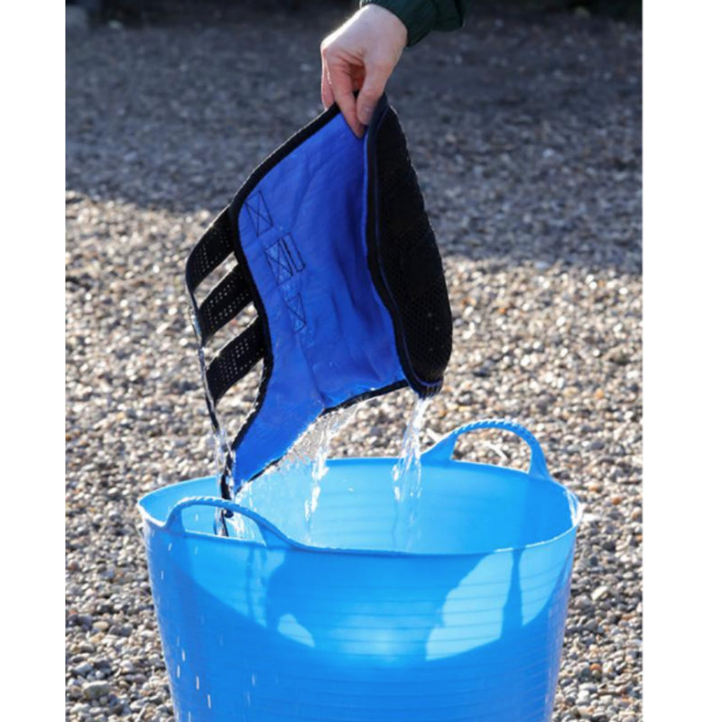 Photo of Premier Equine Cold Water Compression Boots being soaked