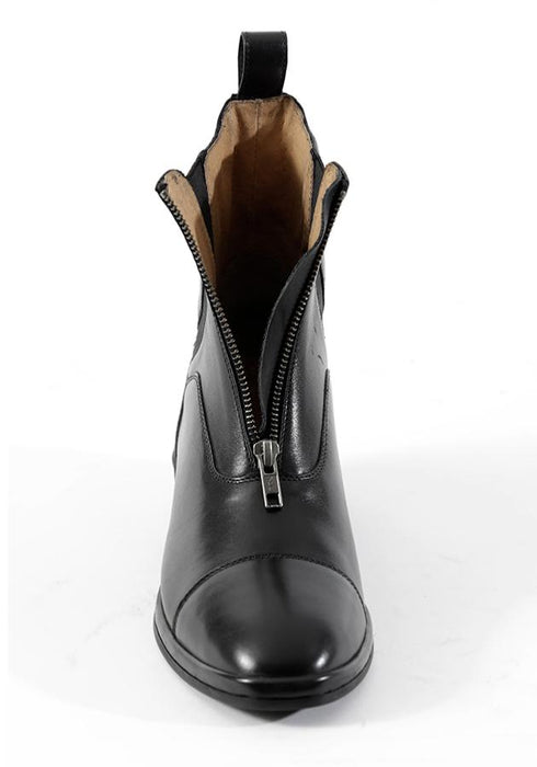 Photo of Premier Equine Balmoral Paddock Riding Boots in Black unzipped