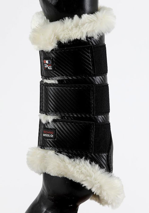 Photo of Premier Equine Air-Tech Techno Wool Brushing Boots in Black