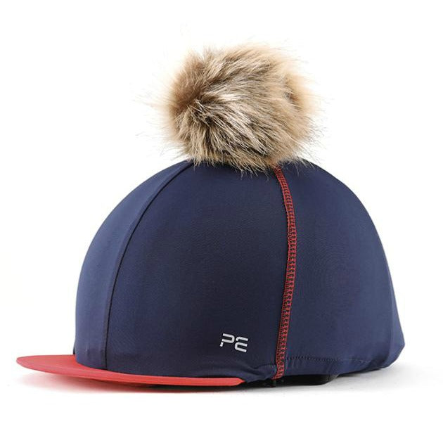 Photo of Premier Equine Jersey Hat Silk with Pom in NAVY