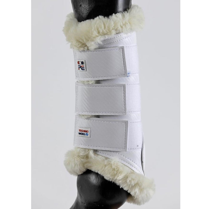 Photo of Premier Equine Air-Tech Techno Wool Brushing Boots in White