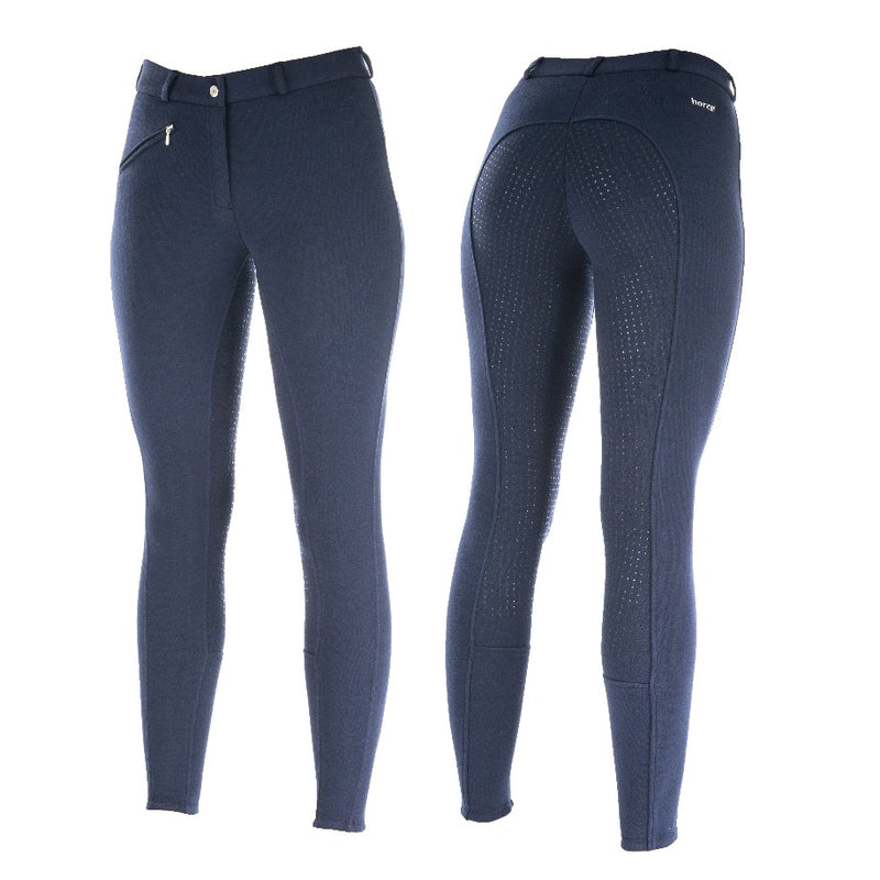 Photo of Photo of Horze Active Silicone FS Ladies Breeches in Navy Blue
