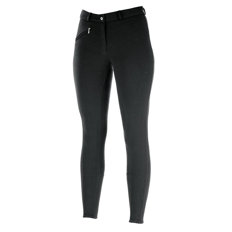 Photo of Horze Active Silicone FS Ladies Breeches in Black