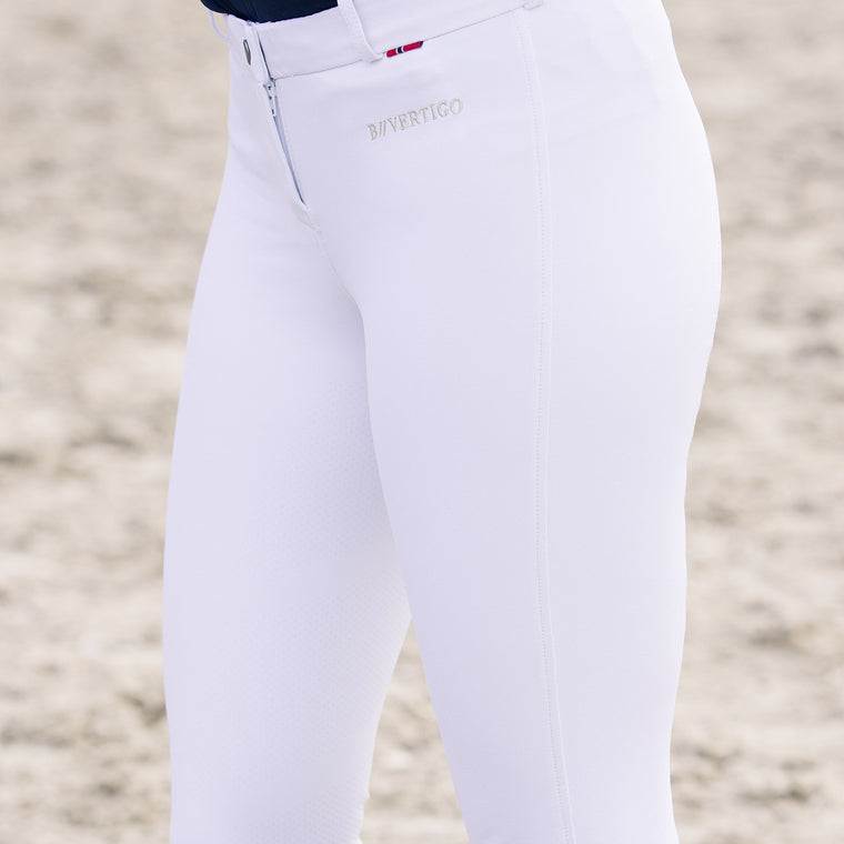 B//Vertigo Lauren Women's Silicone FS Breeches | White