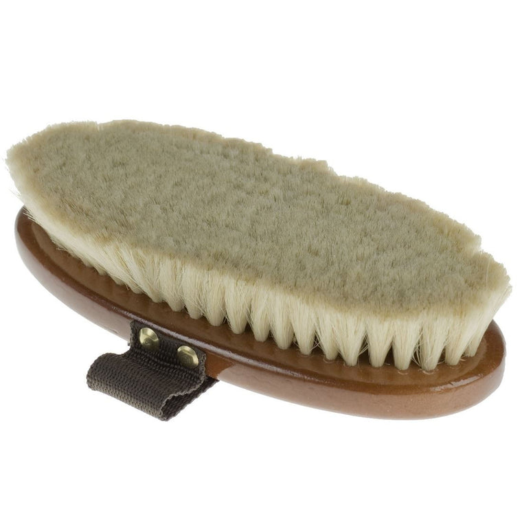 Photo of underside of Horze Soft Natural Body Brush
