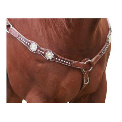 Photo of Cluster of Jewels Western Breastplate Tan