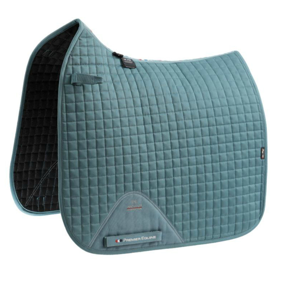 Photo of Premier Equine CC Cotton Dressage Saddle Pad in Turquoise