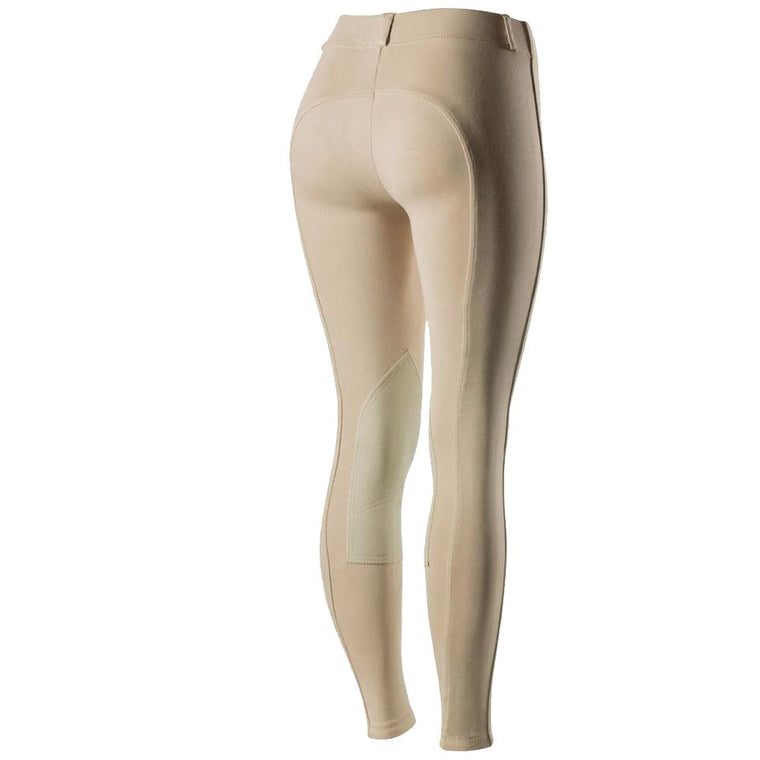 Horze Ella Pull-On Ladies KP Breeches in Beige