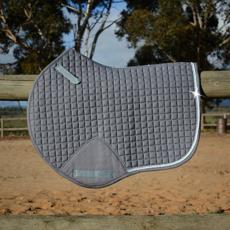 Photo of Caboose Equestrian Signature Close Contact Jump Saddle Pad in GREY without logo