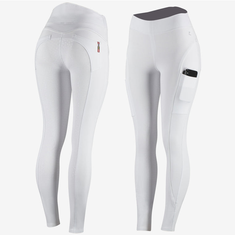 Horze Brea Ladies Riding Tights | White