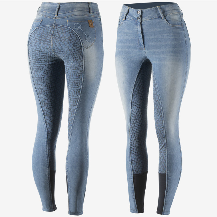 Horze Kaia Denim Breeches | Light Denim