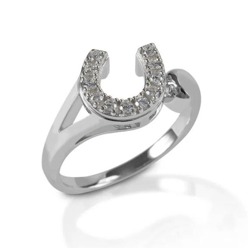 Photo of Kelly Herd Sterling Silver Offset Horseshoe Ring
