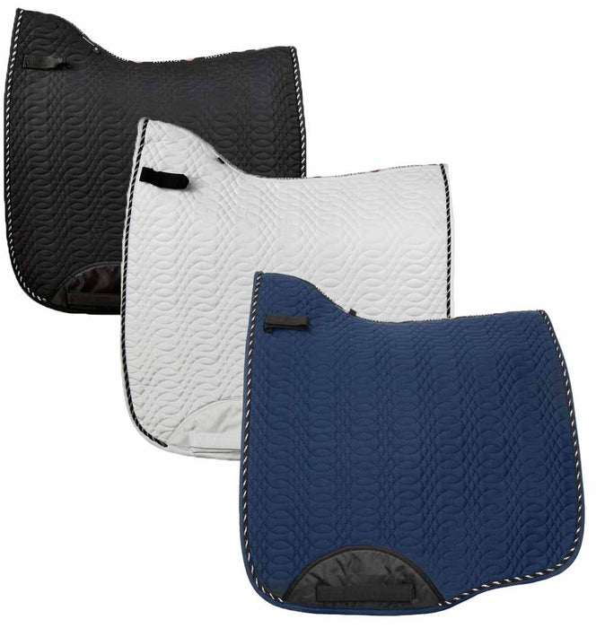 Photo of Kieffer Dressage Saddle Pad in Black, White and Navy Blue