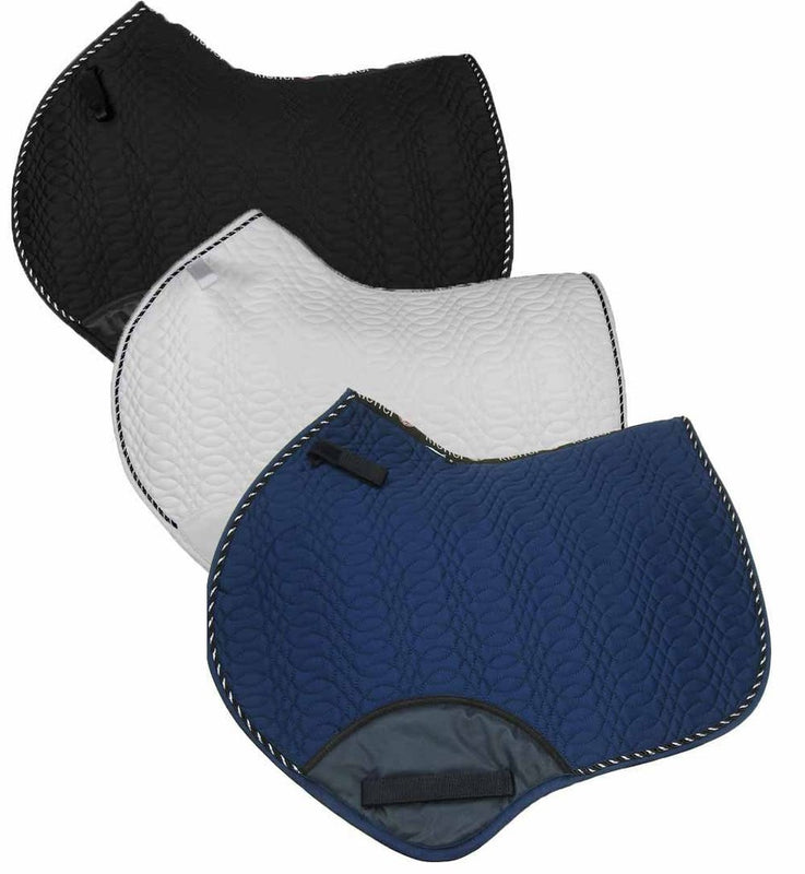 Photo of Kieffer Saddle Pad in Black, White and Navy Blue
