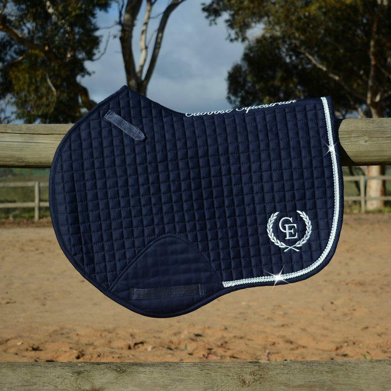 Caboose Equestrian Signature Close Contact Jump Pad | NAVY
