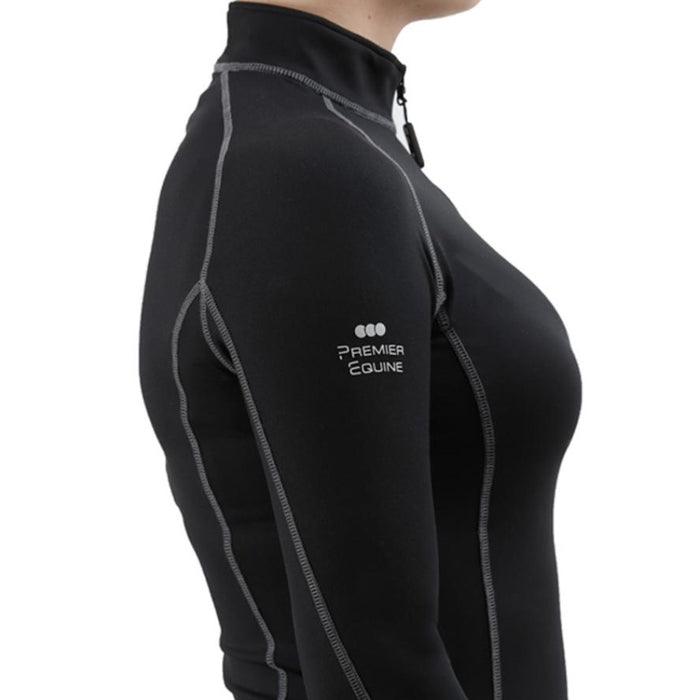 Close up of Premier Equine Oletta Technical Base Layer in BLACK