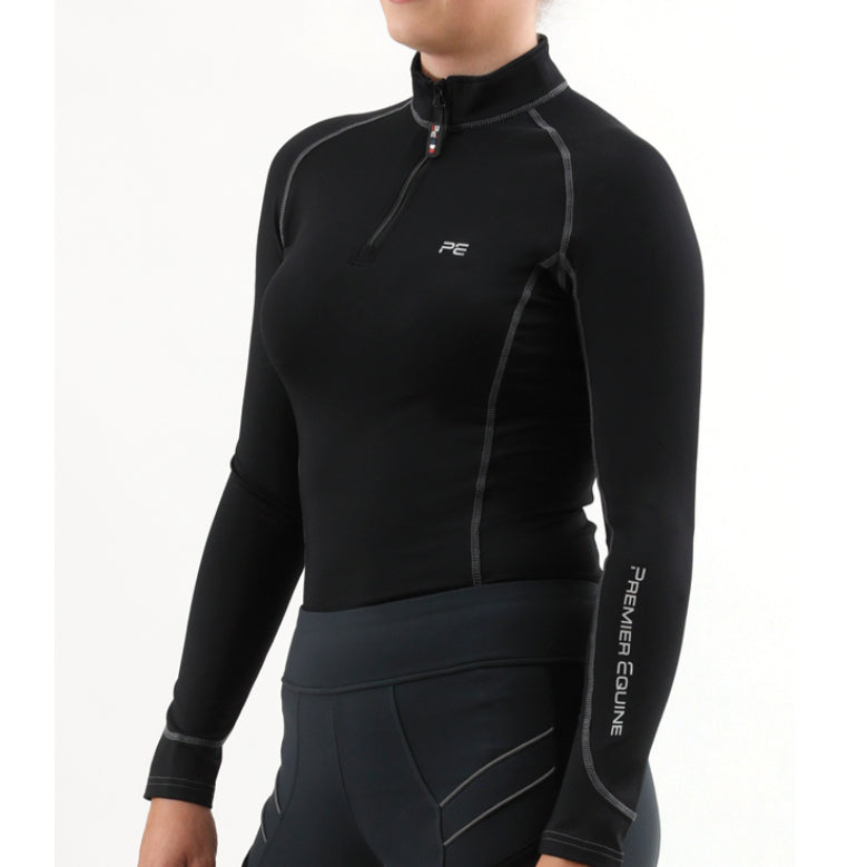 Photo of Premier Equine Oletta Technical Base Layer in BLACK