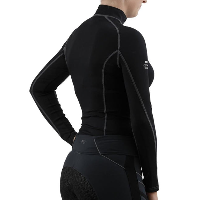 Photo of back of Premier Equine Oletta Technical Base Layer in BLACK