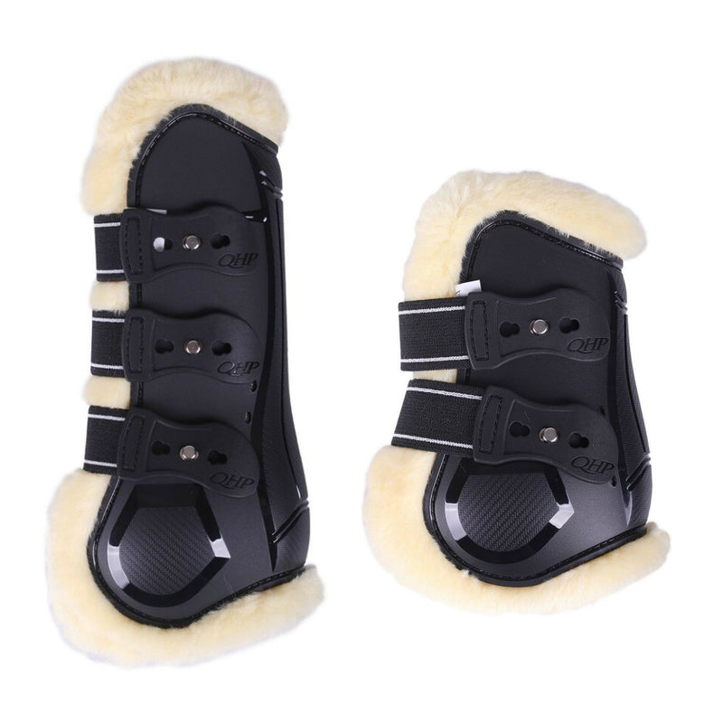 Photo of QHP Ontario Tendon & Fetlock Boot Set in Black