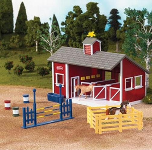 Photo of Breyer Red Stable Set with accessories